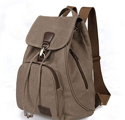 Amazon.com: Backpacks Women Canvas bagpack Softback Solid Bag Fashion Soft Handle mochilas Mujer Rucksack School Bag for Girls: Computers & Accessories