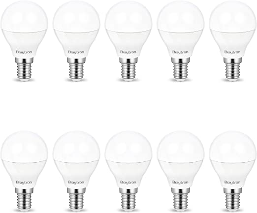 Pack de ahorro de 10 bombillas LED E14 P45, 5 W, mate, 400 lúmenes, luz blanca fría (6400 K): Amazon.es: Iluminación