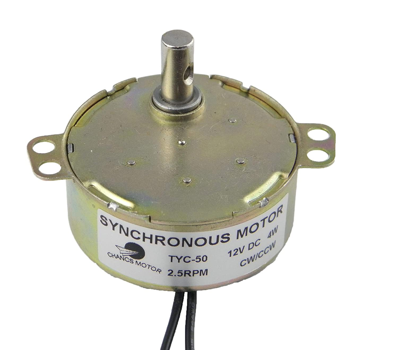Amazon.com: CHANCS Pequeño motor eléctrico TYC-50 12V DC 20 ...