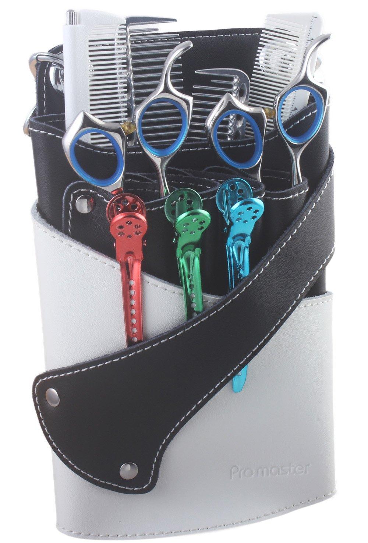 Étui en cuir souple pour barbier et salon de coiffure. Étui à ciseaux/tondeuses, clips, peignes à styler et autre accessoire de salon de coiffure