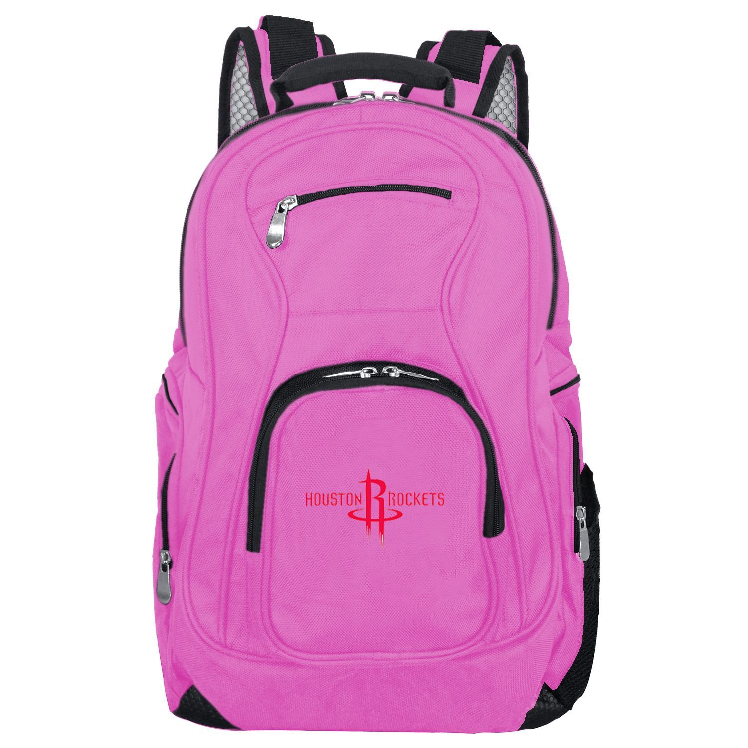 NBA Houston Rockets Voyager Laptop Backpack, 19-inches, Pink