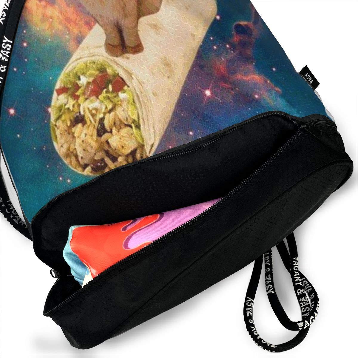 HUOPR5Q Cat On Mexican Twister Drawstring Backpack Sport Gym Sack Shoulder Bulk Bag Dance Bag for School Travel