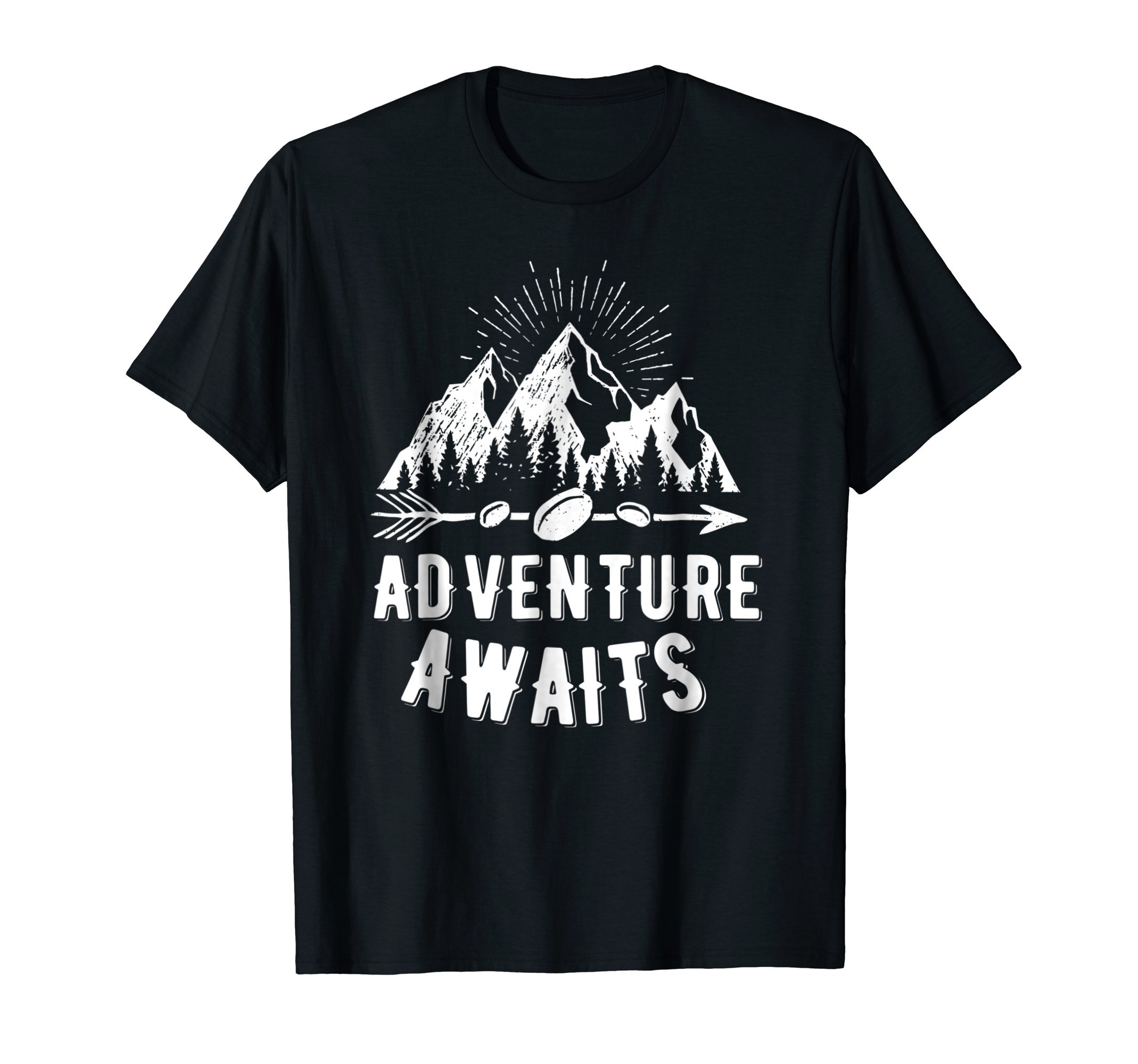 Adventure Awaits Camping, RV, and Outdoor Travel T-shirt by Adventure shirts and tees (Image #1)