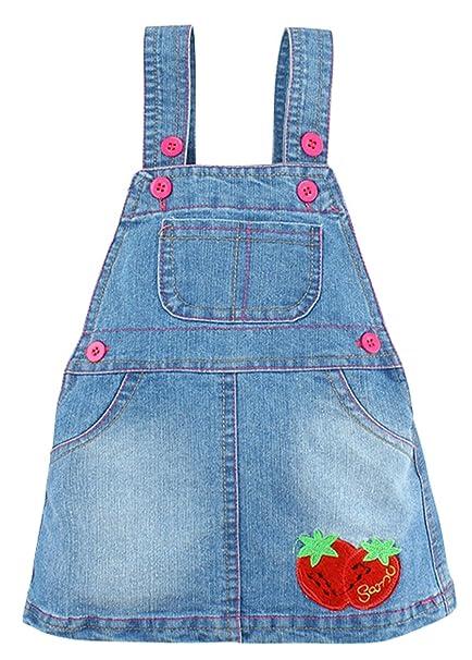Happy Cherry Vestido Vaquero de Bebés Niñas Mini Falda con ...