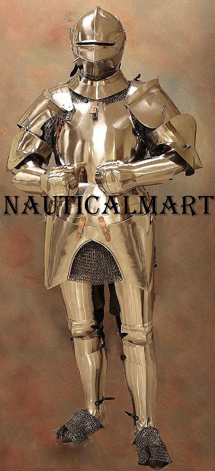 LARP Armour, Full, Italian (Milanese), Medieval Suit of Armor reenctment costume