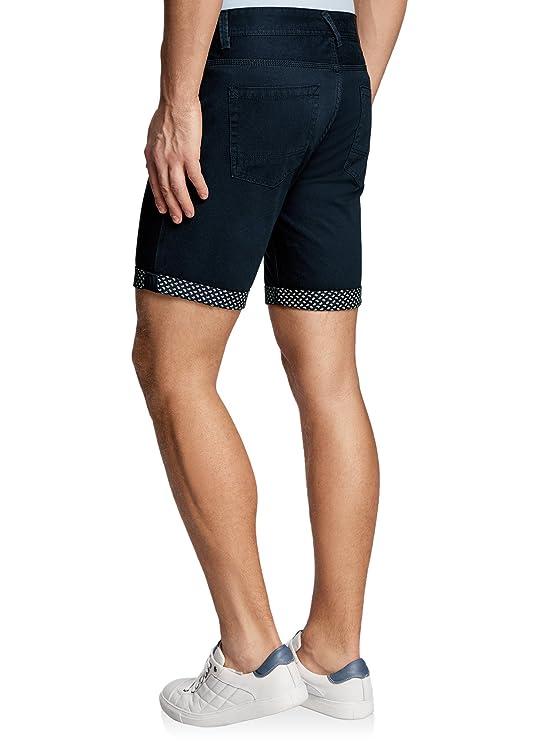 oodji Ultra Hombre Pantalones Cortos 5 Bolsillos de Algodón: Amazon.es: Ropa y accesorios