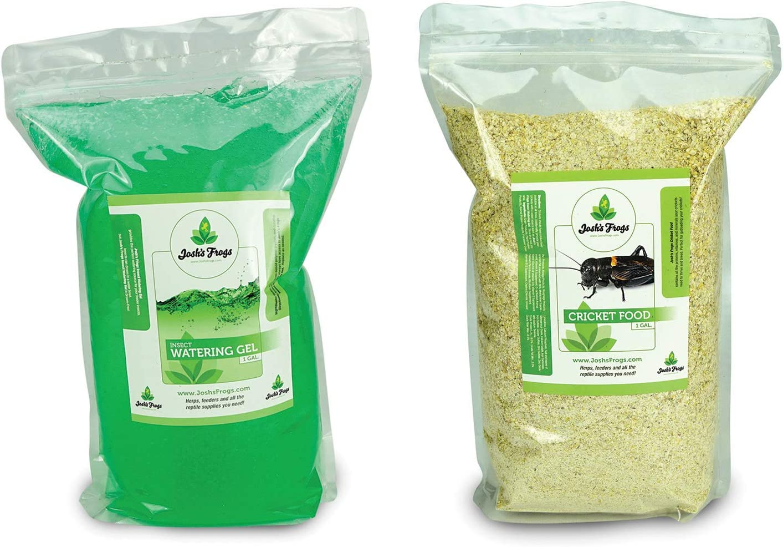 Josh's Frogs Cricket Food and Watering Gel Bundle (1 Gallon)