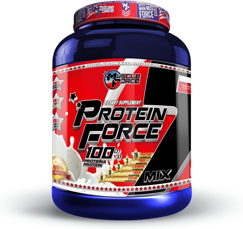 Protein Force 5 Mix, compuesto protéico de diferentes tipos de proteínas complemento alimenticio con edultorantes, sin azúcar y sin aspartamo. ...