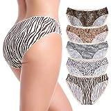 MISSWHO Seamless Underwear Women Mercerized Cotton Soft Stretch Bikini Panties 5-Pack