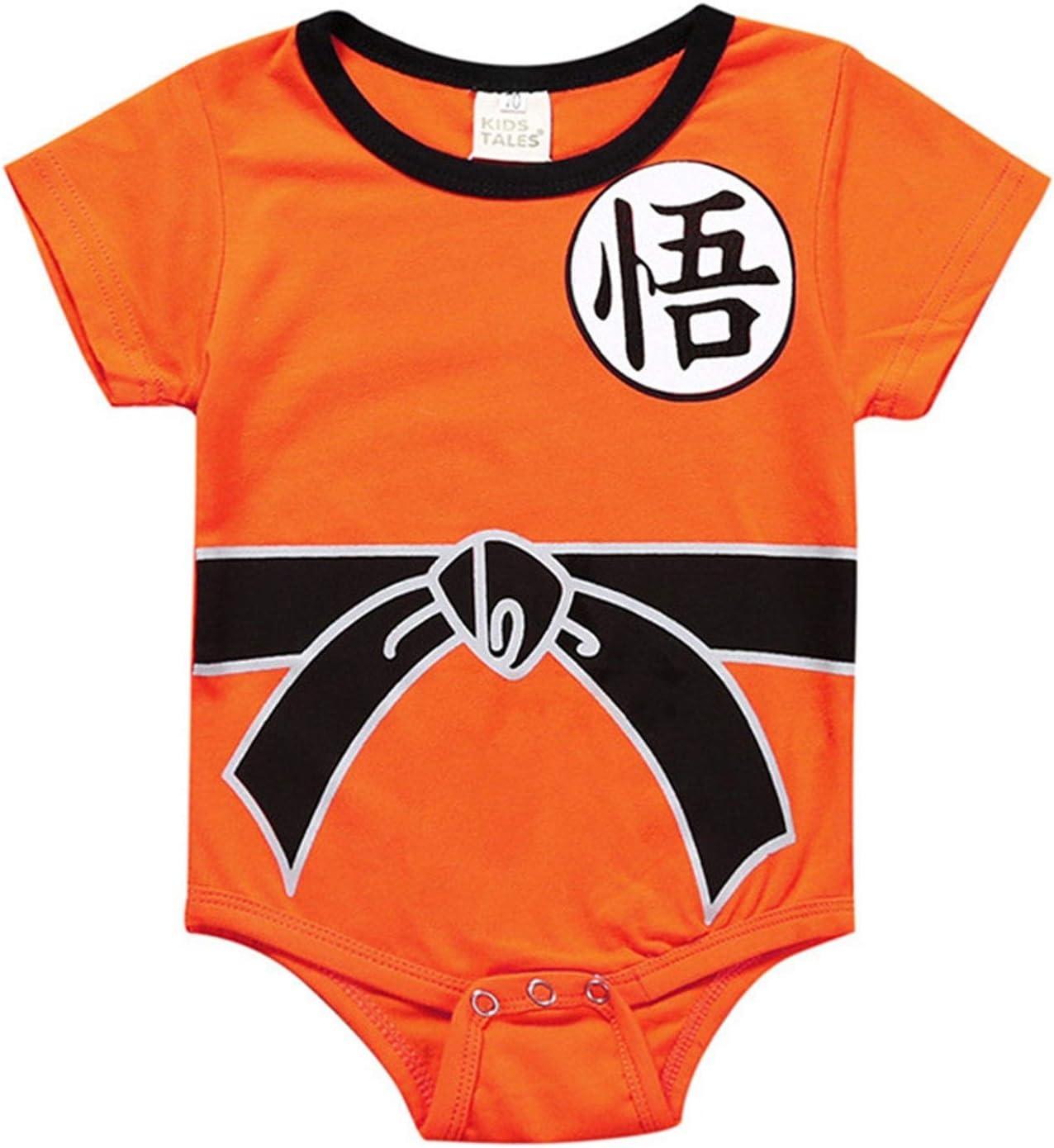 XYXINS Disfraces de Dragon Ball Mameluco del bebé recién Nacido de los bebés Ropa for niños pequeños Monos de Manga Corta Bebes de Halloween del Mono de Vacaciones de Vestir