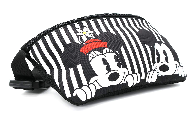 Disney Mickey Minnie Mouse Sac /à bandouli/ère zipp/é pour ceinture de voyage White Mickey