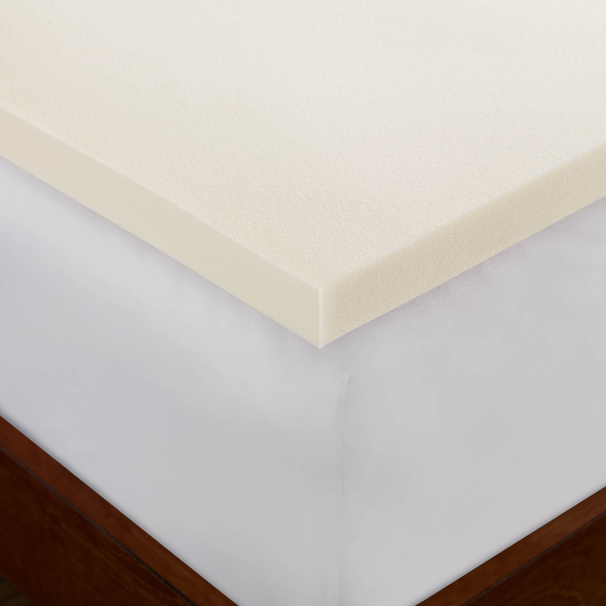 Sleep Innovations 2-inch Memory Foam Mattress Topper, Made in the USA with a 5-Year Warranty - Queen