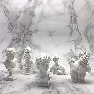 "Classic Mini 2.7"" Greek Bust,Home Décor Mini Resin Figure Sculpture David Venus St Georges Athena Laocoon Crafts Replica Greek Statues,Michelangelo Sculpture Figurine"