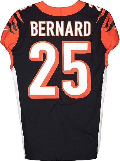 Giovani Bernard Cincinnati Bengals Game-Used #25 Black Jersey vs ...