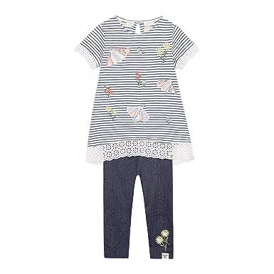 b3e6017a594 Mantaray Kids Girls  Blue Striped Top And Bottoms Set  Mantaray ...