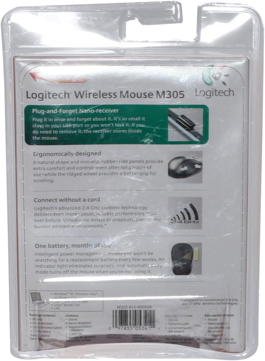 Logitech M305 Wireless Mouse Silver