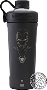 BlenderBottle Marvel Comics Radian Insulated Stainless Steel Shaker Bottle Stocking Stuffer, 26-Ounce, Iron Man