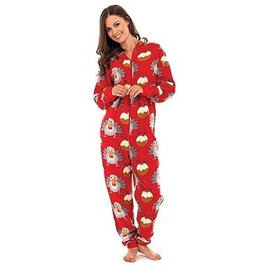 Réduction enfant qualité supérieure Pyjama grenouillère de noël à capuche - Femme (S/M) (Rouge ...