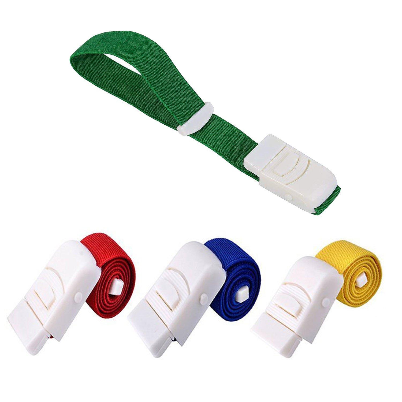 MAZU Tourniquet - Outdoor Tourniquet Card Button Elastic Tourniquet, Sports l Emergency Cingulate Frist Aid Supplies (A pack of 4,Multi-color) B4