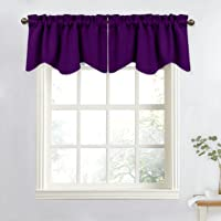 NICETOWN Scalloped Valance Curtains, 2 Panels and 4 Panels