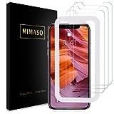 【3枚セット】Nimaso iPhoneXS Max 用 強化ガラス液晶保護フィルム【ガイド枠付き】 日本製素材旭硝子製 3D Touch対応/硬度9H/高透過率 (iPhone XS Max 用)