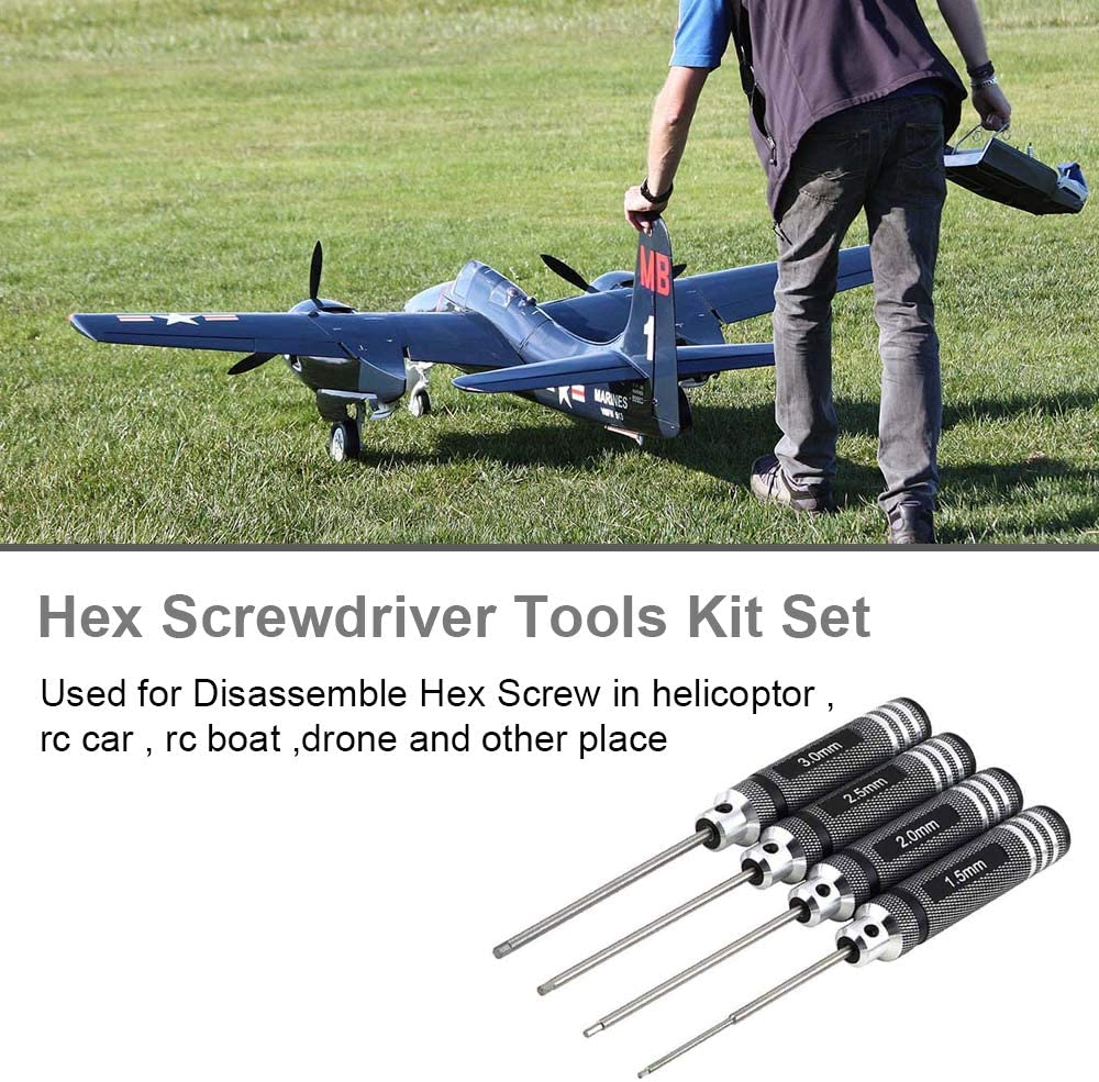 Hobby-Ace 4pcs Hex Screw driver Tools Kit Set for RC Helicopter (1.5mm 2.0mm 2.5mm 3.0mm) by Hobby-Ace: Amazon.es: Juguetes y juegos