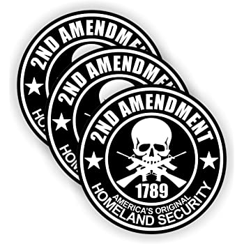 2nd Amendment Hard Hat Sticker | Helmet Decal Label Lunch Tool Box