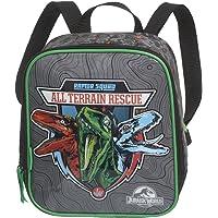 """Lancheira Jurassic World Raptor Squad 965F11, em Poliéster, Puxadores Personalizados, Cinza e Verde - Pacific"""