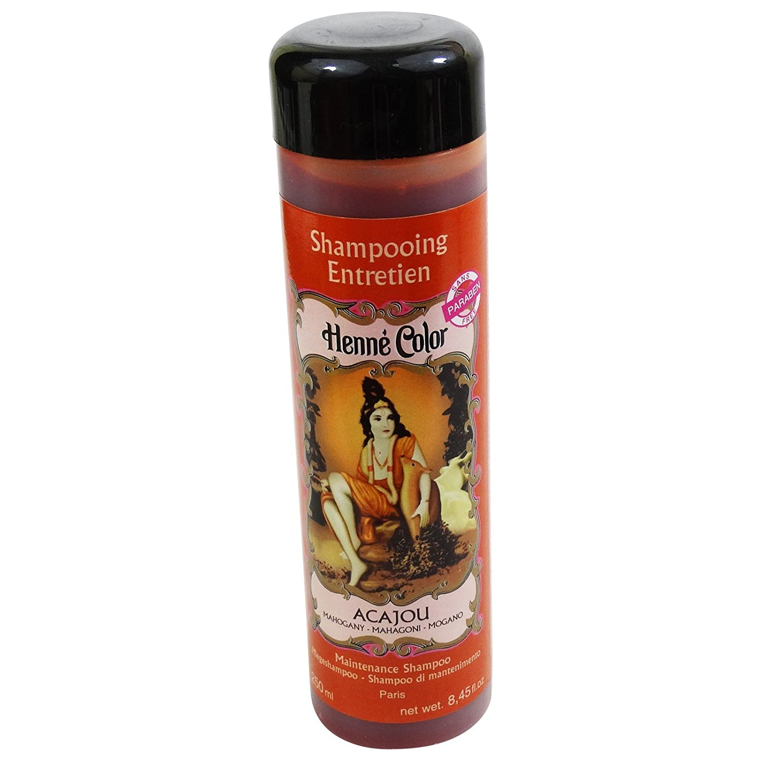 SITARAMA Henné Color - Henna Maintenance Shampoo - MAHOGANY - For frequent use and specially adapted to coloured hair