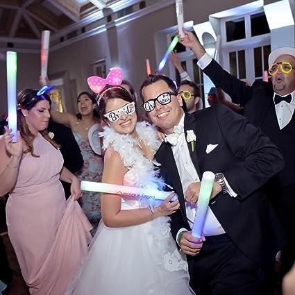 25 Personalized LED Foam Sticks Light-Up Customized Batons DJ Custom Glow Wands