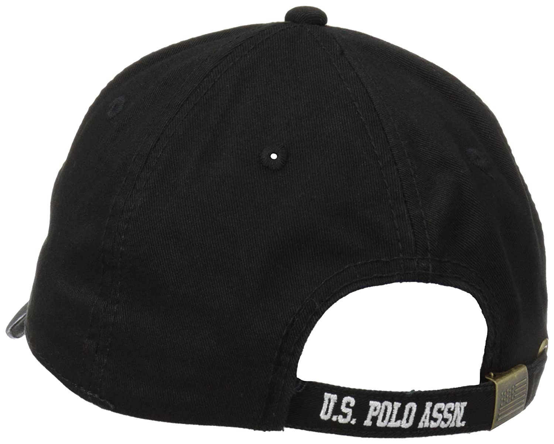 U polo assn mens flat baseball cap black one size at amazon mens clothing  store jpg 4ca36ad68850