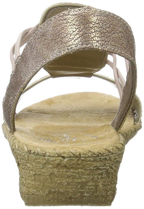 Rieker Damen 61662 Offene Sandalen mit Keilabsatz, Beige (beigerose60)