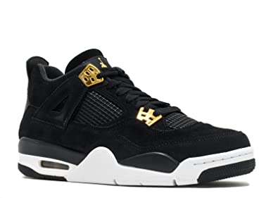Jordan Big Kids Air Jordan IV Retro (GS) (black / metallic gold-