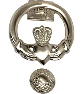 Claddagh Door Knocker Silver Plated Made In Ireland
