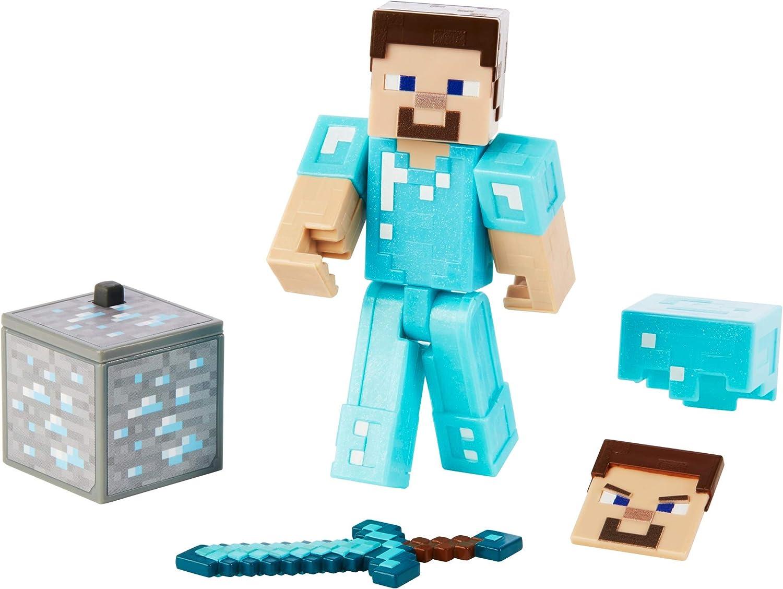 Minecraft Steve In Diamond Armor Figure Set