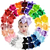 "20pcs Baby Girls Hair Bows Headbands 6"" Grosgrain Ribbon Hair Band Accessories for Infants Newborn Toddler"