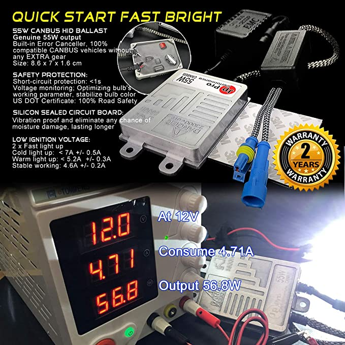 H8//9//11 , 8000K they are same H8 H9 H11 55W Heavy Duty Fast Bright CANBUS HID Kit No OBC Error