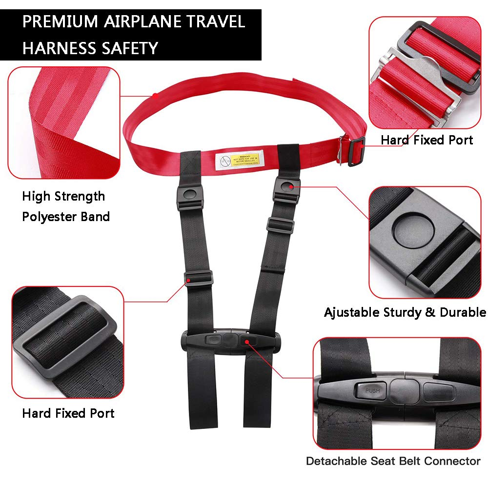Child Safety Harness Airplane Travel Clip Strap, Travel Harness Safety System Approved by FAA, Airplane Safety Travel Harness for Baby, Toddlers & Kids (2025) by YIKUSO (Image #2)
