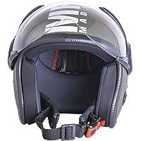Sepia Muscle Rider Open Face Helmet (Battle Green Matt, M)