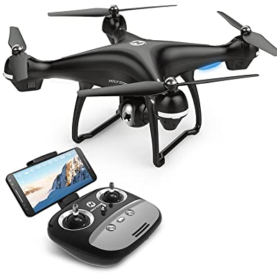 Saint Pierre HS100FPV RC Drone avec caméra vidéo en direct et GPS Retour Quadcopter réglable avec grand angle HD 720p Wifi Caméra Follow Me, Altitude tenir, batterie intelligente, longue dist