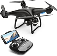 Holy Stone GPS FPV RC Drone HS100 with Camera Live Video 1080P HD and GPS Return Home Quadcopter with Adjustable Wide-Angle W