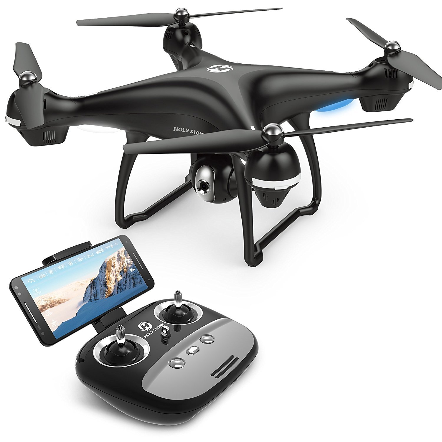 Holy Stone GPS FPV RC Drone HS100 with Camera Live Video 1080P HD and GPS Return Home Quadcopter with Adjustable Wide-Angle WIFI Camera Follow Me best drone cameras