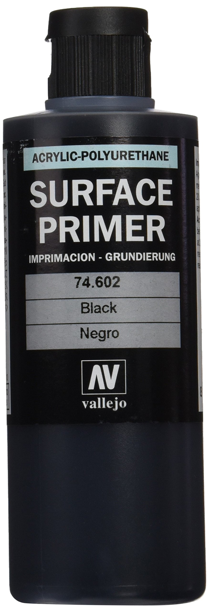 Vallejo Black Primer Acry-Poly 200ml Paint by Vallejo