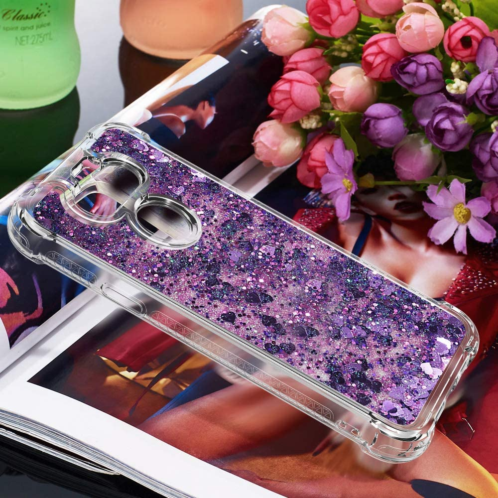 Crossbody Case Compatible with iPod Touch 7 2019 Bling Sequin TPU Cell Phone Cover with Neck Cord Lanyard Strap Quicksand Glitter Cute Bling Ring Kickstand Girls Women Case with Lanyard Shell