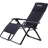 KingCamp Oversize Free-Adjustment Heavy Duty Lounger Patio Chair with Square Legs for Garden,Outdoor,264 lbs Weight Capacity