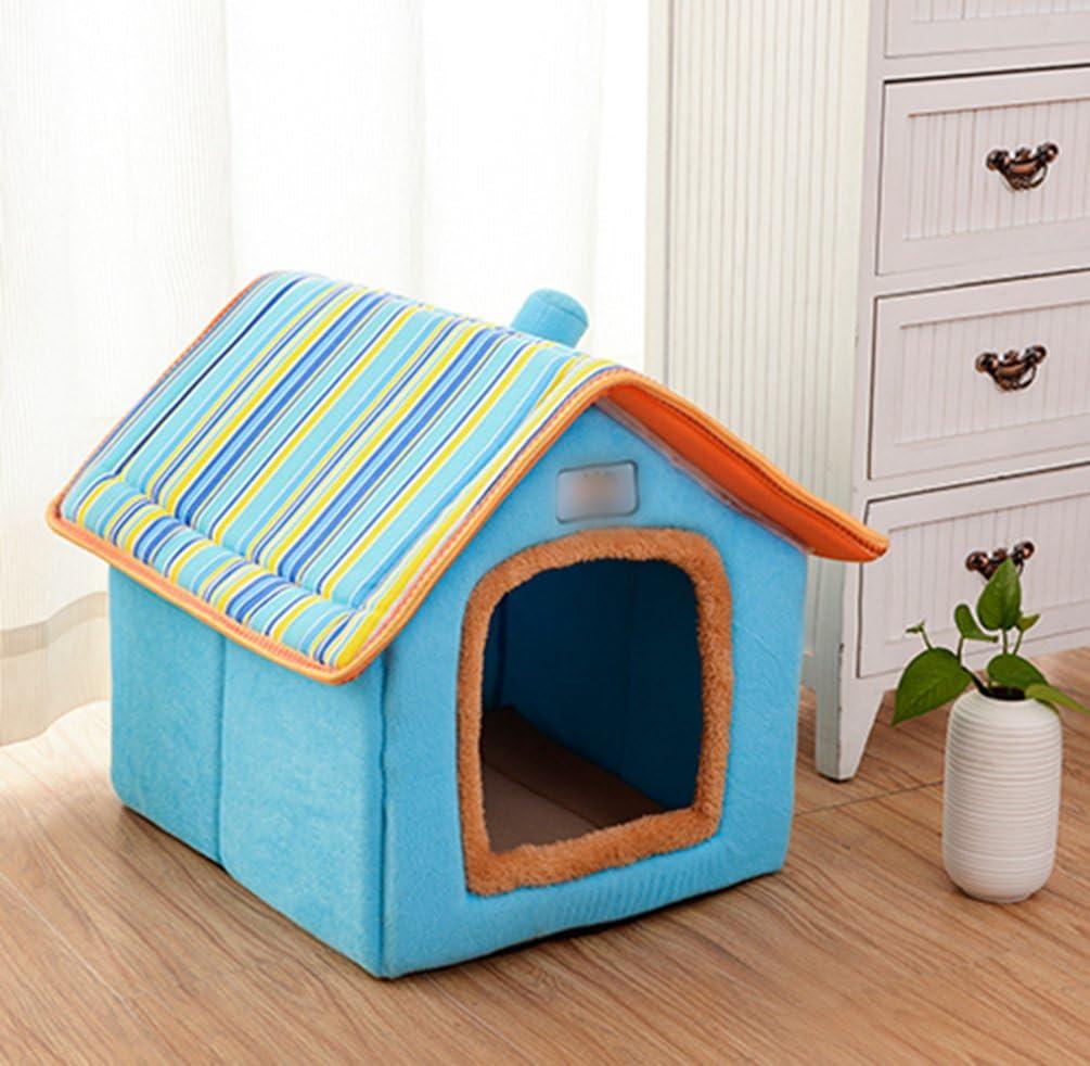 LvRao Pet Cuccia a Casa Letto Pieghevole Cuccia con Cuscino per Cani Gatti Morbido Caldo Divano Lettino Cestino per Cane Marrone, S