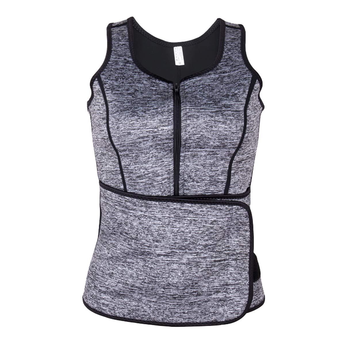 DODOING Neoprene Sauna Suit, Sauna Tank Top Vest Adjustable Waist Trainer Belt