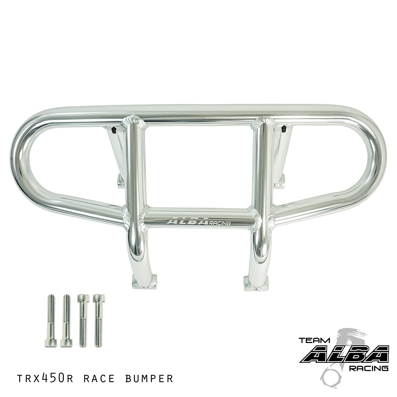 Honda ATV TRX 450R (2004-2014) and TRX 400EX 400X (1999-2014) Front Bumper R1 - Silver Alba Racing