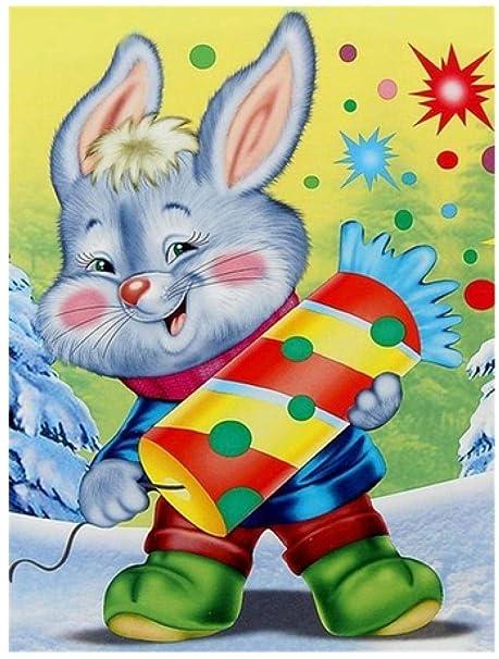 5D Diamante Pintura Dibujos Animados Conejos Y Gatos Bordado ...