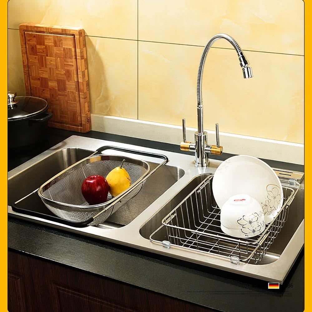 Stainless steel Housewares Under Shelf Storage Basket, kitchen shelf storage,39~45.5 cm (Size : B) by Guoqing (Image #8)